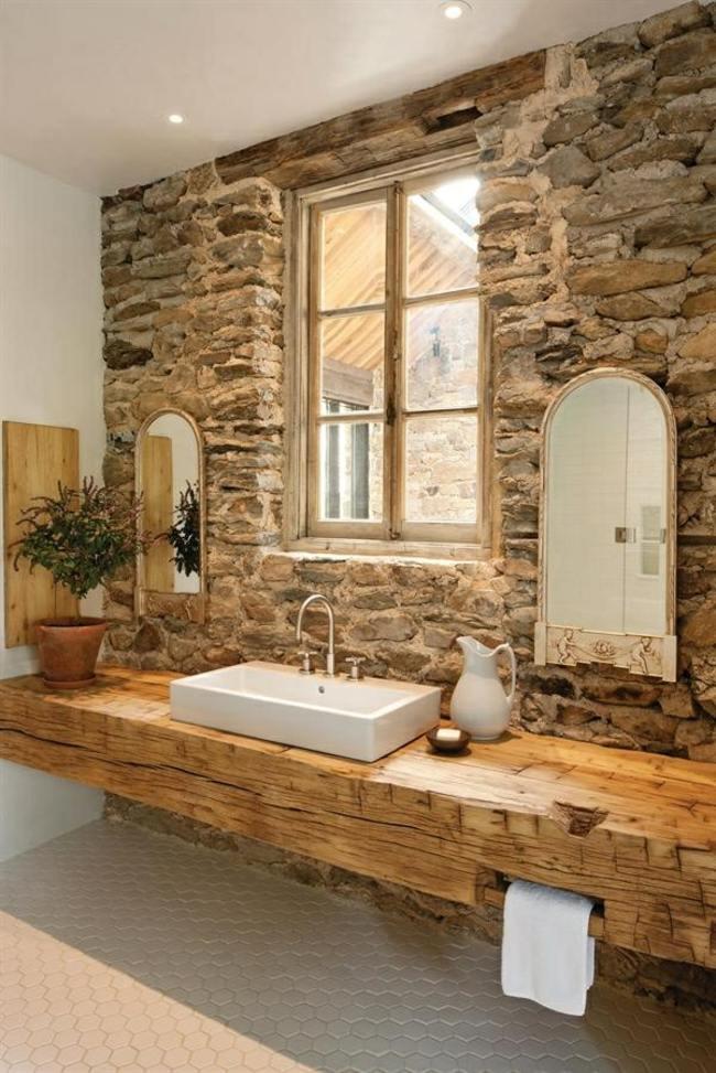 Badezimmer Rustikal Modern: Waschtisch Rustikal Modern Badezimmer ... Badezimmer Modern Rustikal
