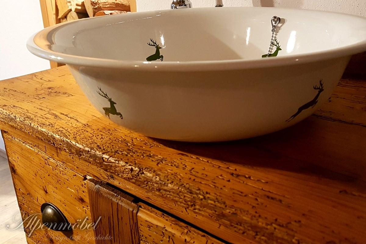 Waschbecken Anni, ø41x11 - rund, #364-99