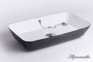 Emaille Waschbecken Gitti, 45x26x7 - eckig, 404-99